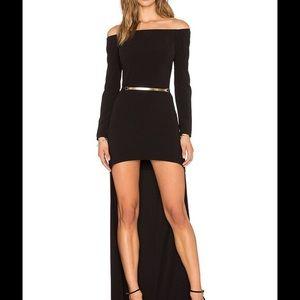 Halston Heritage long sleeve high low dress